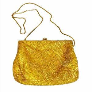 Vintage Carolyn Barton Night Clam Shell Fabric 50s Bag